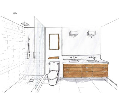 Bathroom and laundry wondrous kitchens for Bathroom project plan
